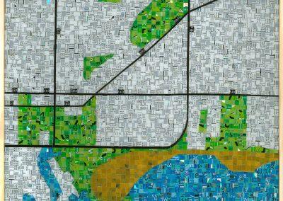 Toronto TTC Metropass mosaic are piece